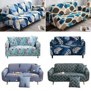 L-Shape Stretch Chair Sofa Cover 1-4 Seater Couch Elastic Slipcover Protect New