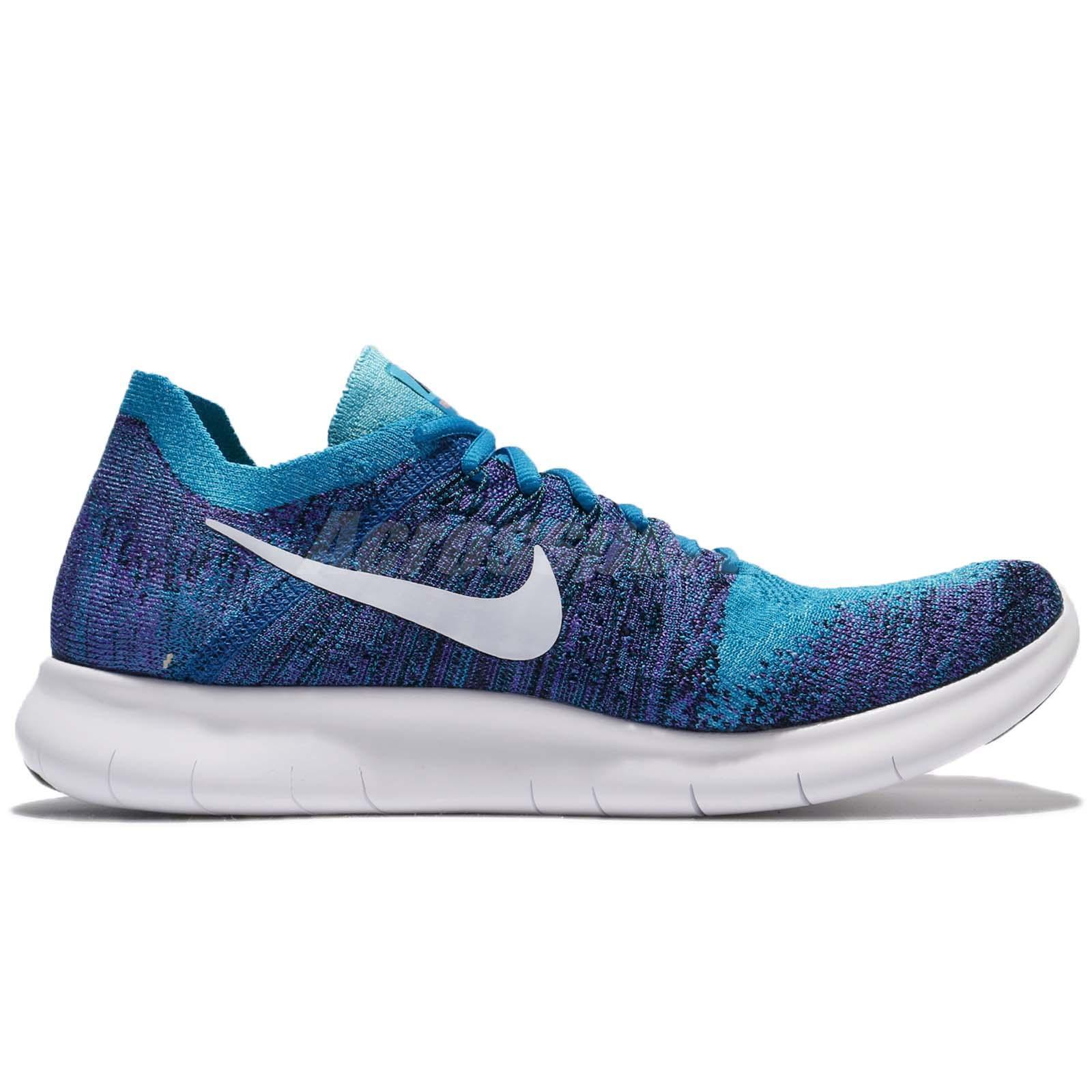 finest selection 83098 42897 ... Nike Free RN Flyknit 2017 2017 2017 Run Blue Men Running 880843-403  SIZE 14 ...