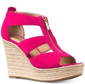 a7ec0b06d80 Image is loading New-Michael-Kors-Damita-Espadrille-Wedge-Sandal-platform-