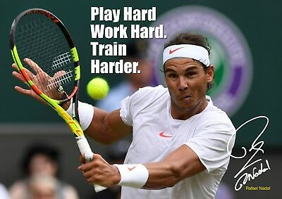 Rafael Nadal Poster 20 Motivational Quotes Tennis Champion A3 Poster Ebay