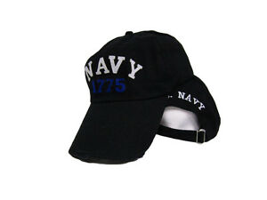 5e9f99da386f2 Image is loading U-S-Navy-1775-Washed-Distressed-Embroidered-baseball-style-