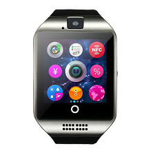 Q18 Curved Screen Bluetooth Smart Watch GSM SIM Card Camera NFC For Android IOS