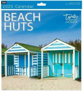 Traditional-2020-Calendar-Office-Wall-Calender-Month-View-Xmas-Gift-BEACH-HUTS
