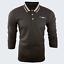 Para-hombre-Plain-Pique-Polo-Gavin-camisa-de-mangas-largas-Top-Calido-Azul-Marino-De-Golf-S-M-L-XL miniatura 17