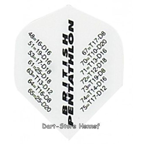 6 Dart Flights Pentathlon CHECKOUT Farbe wählbar