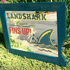 Land Shark Lager Beer Bar Mirror Shark Bite Man Cave Pub Sign