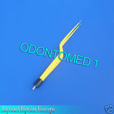 Bayonet Bipolar Forceps 775 Foot Activated Yellow Electrosurgical El 029