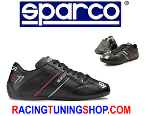 SCARPE-SPARCO-TIME-77-TG-46-BLACK-SHOES-SNEAKERS-SPARCO-SCHUHE-LEATHER-SIZE-46