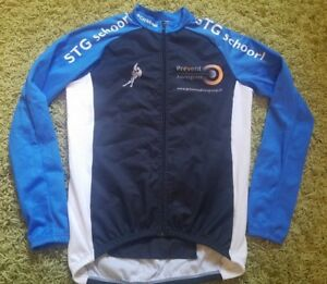 hot sale online 6fa86 a1952 Details about Men`s Giovanni Cycling Jacket Jersey Shirt Full Zip Long  Sleeve Size M