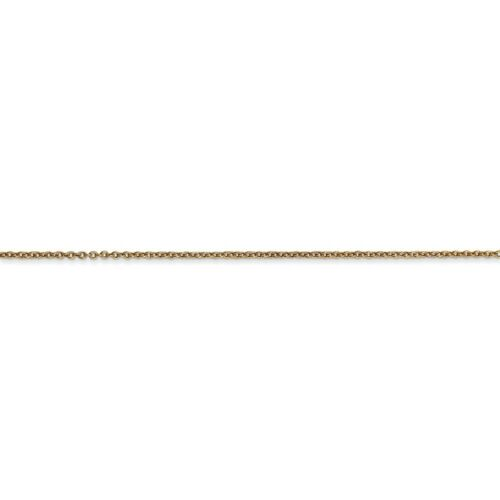 Details about  /Real 14kt Yellow Gold .9mm Cable Chain; 16 inch