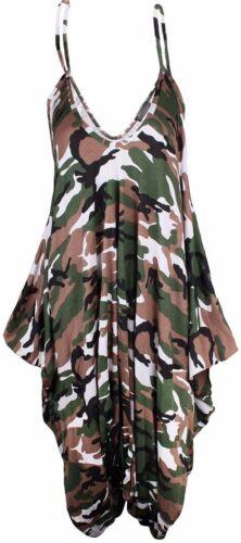 New Ladies Cami Lagenlook Romper Baggy Harem Jumpsuit Playsuit Dress Plus Size