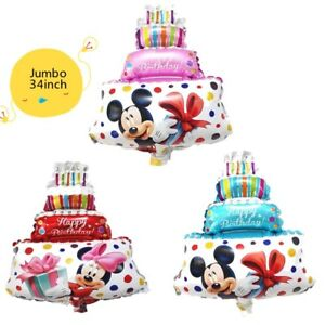 Pleasant Jumbo 86 50Cm Mickey Minnie Mouse Cake Foil Balloons For Wedding Personalised Birthday Cards Veneteletsinfo