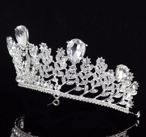 Swan Royal Clear Austrian Crystal Rhinestone Tiara Crown Prom Bridal Wedding T68