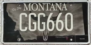 GENUINE-Montana-ChicksnChaps-Org-License-Number-Plate-CGG-660