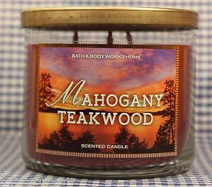 1-Bath-amp-Body-Works-MAHOGANY-TEAKWOOD-3-Wick-Scented-14-5-oz-Candle