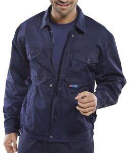 Click Super Polycotton Mens Navy Blue Drivers Jacket Work Wear Uniform  Unlined | eBay
