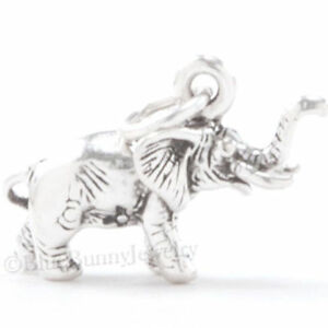 ELEPHANT-Charm-Pendant-Africa-Safari-Zoo-Animal-925-STERLING-SILVER-3D-925