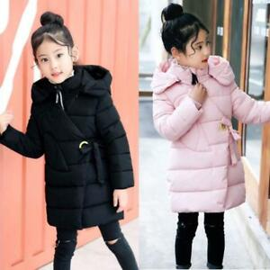 bca764a97 Image is loading Kids-Girls-Padded-Coat-Winter-Cotton-Puffer-Down-