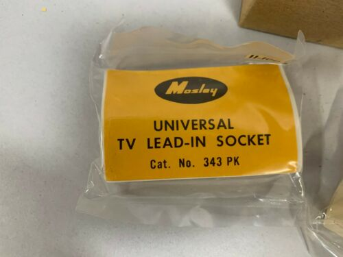 """Lot /""""10/"""" NOS Vintage Mosley Lead In Socket Plug TV Flat Antenna Wire Jack A5"""
