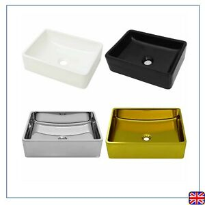 Bathroom Ceramic Basin Sink Vanity Unit Single Tap Hole ...