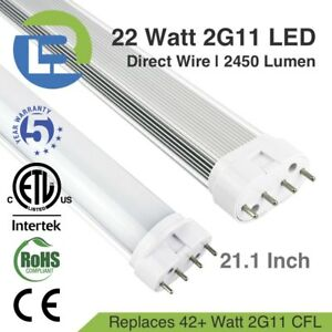 Details about 22 Watt LED 2G11 PLL 4-pin Direct Wire 21.1 Inch Lamp on