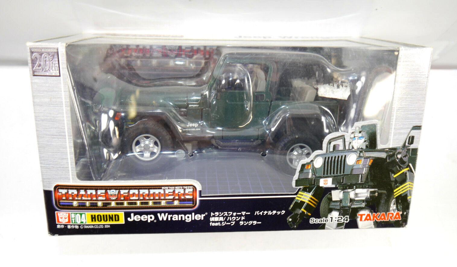 Transformers Binaitech BT04 Hound Jeep Wrangler Auto   Figurine D'Action Takara