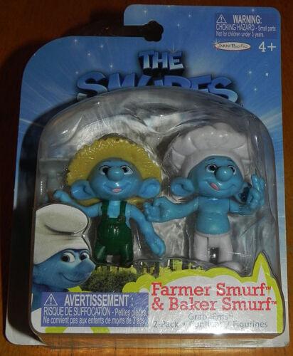 Smurfs Set of 2 PVC//Cake Toppers Figures Farmer /& Baker Grab /'Ems Jakks Pacific