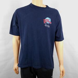 Vintage-Planet-Hollywood-Paris-France-Cotton-Blue-Black-Souvenir-T-Shirt-Sz-XL