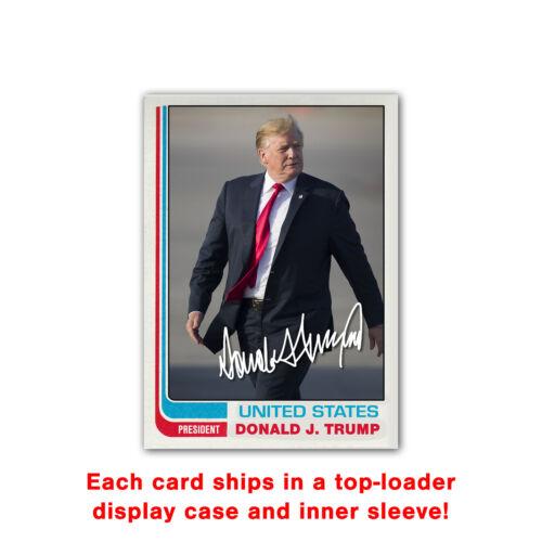 Donald Trump Novelty Custom 1982 Style Presidential Baseball Card GOP MAGA