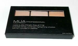 MUA-Professional-HIGHLIGHTING-PALETTE-Trio-New-In-Box