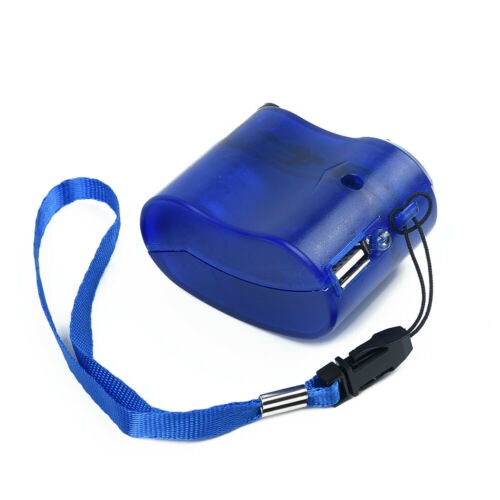 Notfall Powerbank USB Hand Kurbel Sos Handy Ladegerät Zelten Überleben Gang Au