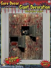 Halloween Giant Zombie Morgue Gore Wall Decoration Decal Horror Scene Setter