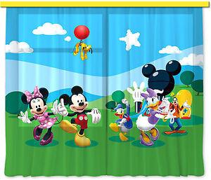 034-Micky-Maus-034-Kinder-Foto-Vorhang-Gardine-180x160cm