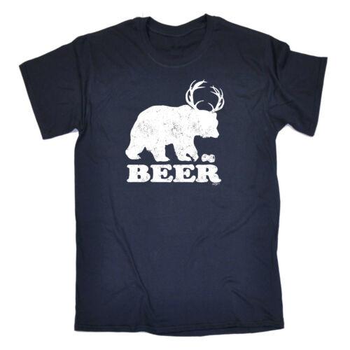 Funny Novelty T-Shirt Mens tee TShirt Beer Bear Deer