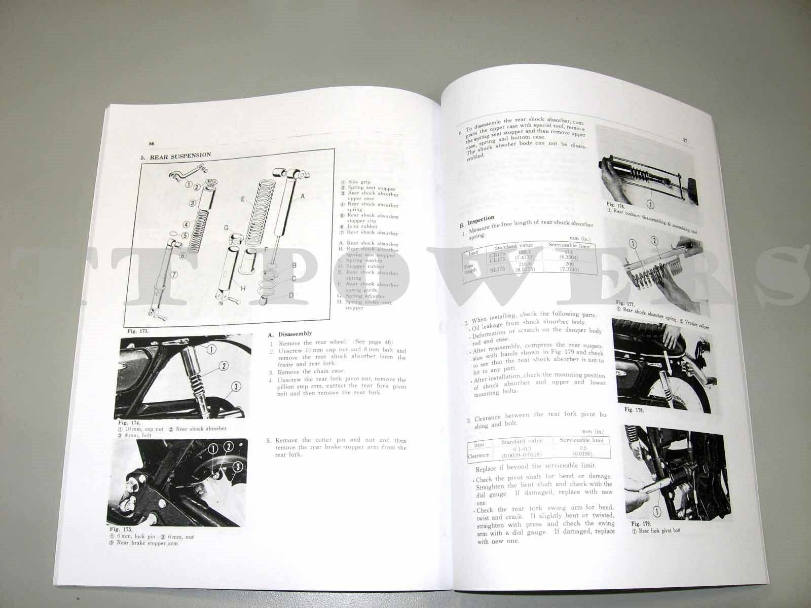 Honda Shop Service Repair Manual 175 Cb175 Cl175 Sl175 Ebay 1971 Wiring Diagram Norton Secured Powered By Verisign