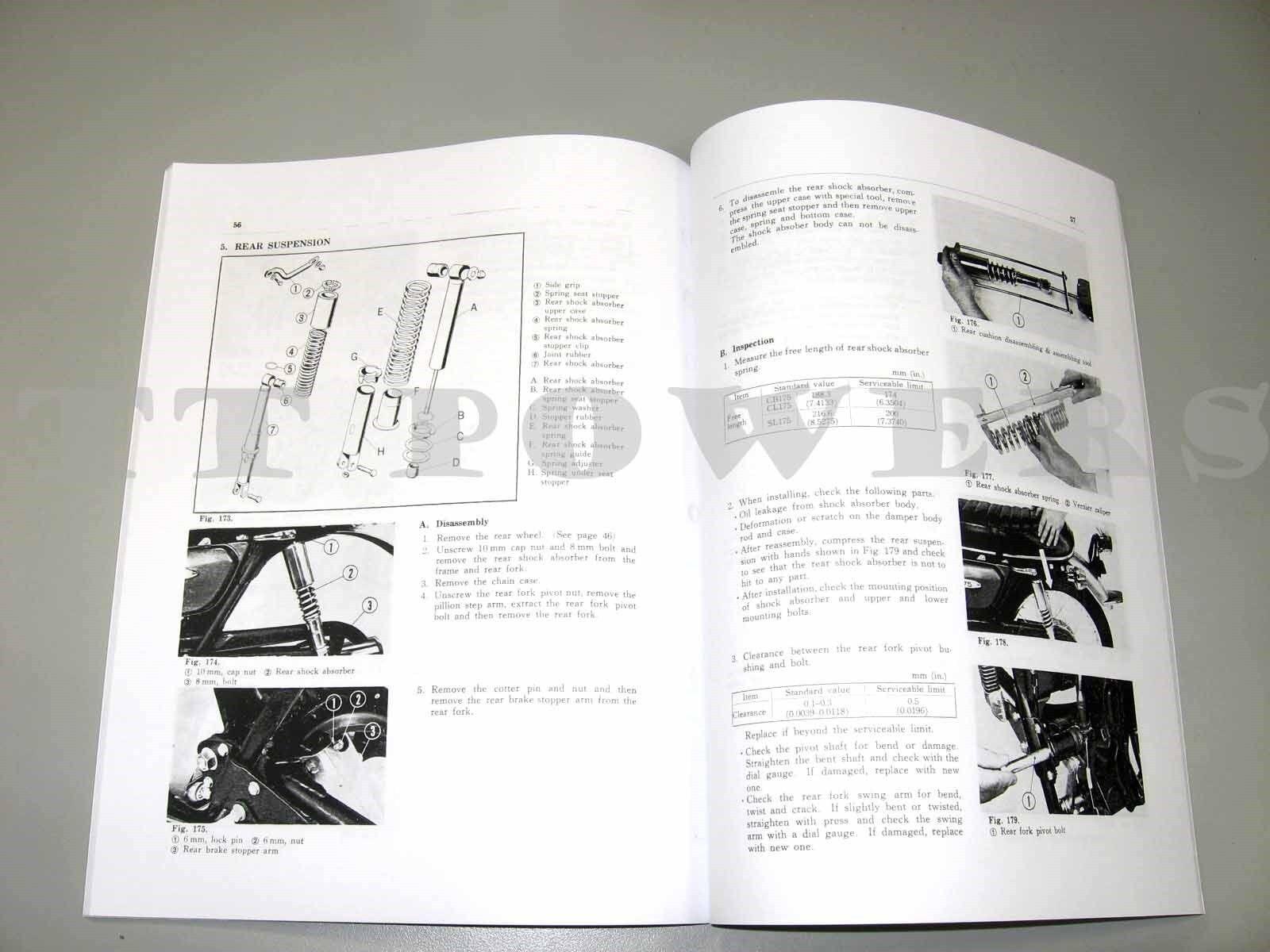 Honda Shop Service Repair Manual 175 Cb175 Cl175 Sl175 Ebay Wiring Diagram Norton Secured Powered By Verisign
