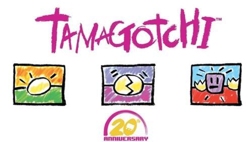 Bandai Tamagotchi 20th Anniversary Series 2 Chibi Translucent Green With Yellow