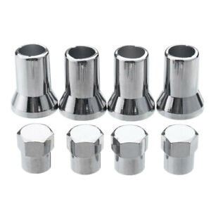 4PCS-set-Chrome-Silver-Plastic-Wheel-Tyre-Tire-Valve-Dust-Caps-Stem-Covers-TR413