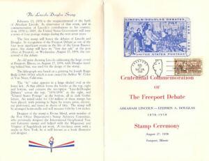 1115-C1-First-Day-Ceremony-Program-4c-Lincoln-Douglas-Stamp-w-FDC