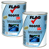 Roofix 20/10 Roof & Gutter Repair, 2 X 5 Litre Black,grey,white,solar Reflective