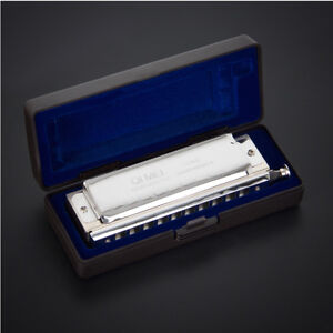 Chromatic-Harmonica-French-Harp-Mouth-Organ-Key-of-C-10-Holes-40-Tone
