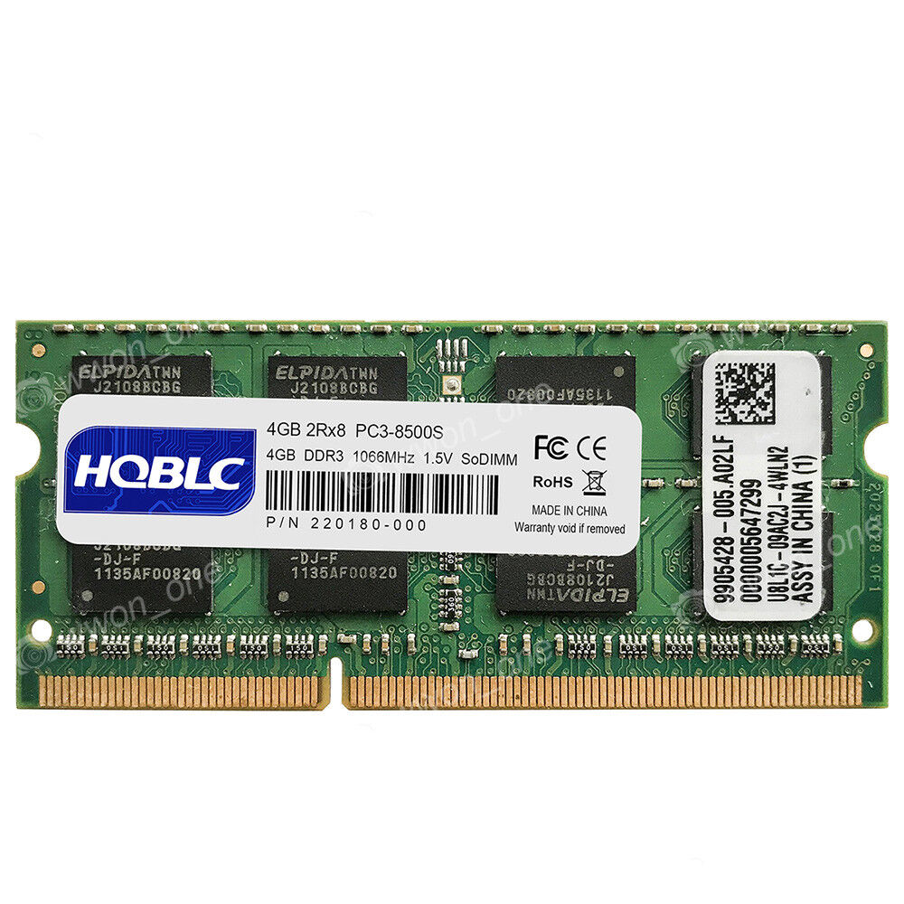 """US 8GB 2X4GB PC3-8500S DDR3 1066 MHz SODIMM For MacBook 2.4 13/"""" Mid-2010 A1342"""