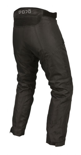 Motorcycle Waterproof Trousers CE Armoured Black Motorbike Textile Thermal Pants