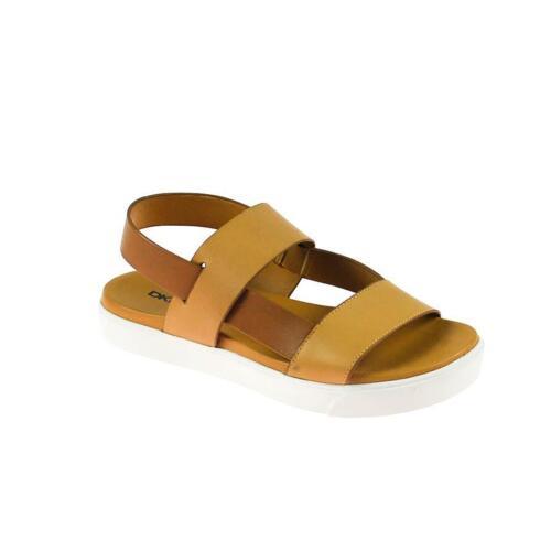 Leder Größe Braun Damen Dkny Sandale 38 f7b6gyY