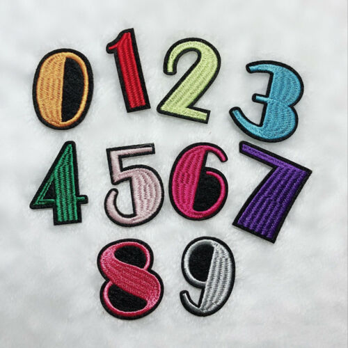 IRON-ON NUMBERS EMBROIDERY PATCH SEWING APPLIQUE BADGE CLOTHES JEANS DECOR NICE