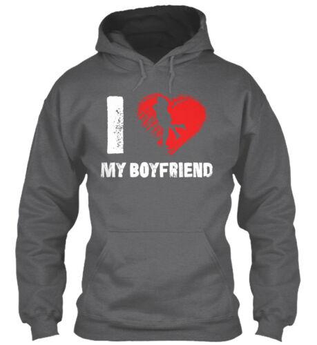 I Love My Boyfriend Gildan Hoodie Sweatshirt