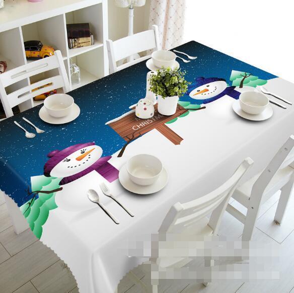 3D Snowman 522 Tablecloth Table Cover Cloth Birthday Party Event AJ WALLPAPER AU