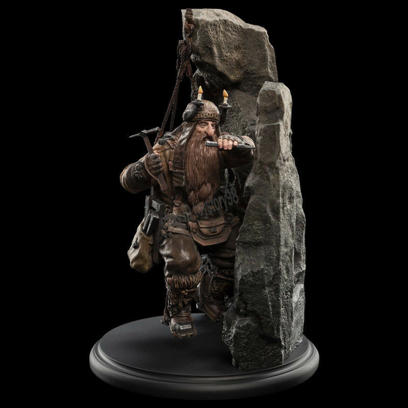 Weta The Lord of the Rings Dwarf Miner Miniature Statue The Hobbit Action Figure