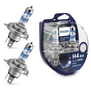 H4 PHILIPS RacingVision GT200 2X Halogen Scheinwerfer Lampe Car Bulbs NEU