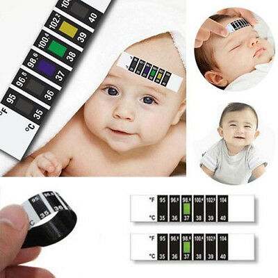 Hot Baby Kids Forehead Strip Head Thermometer Fever Body Temperature Test